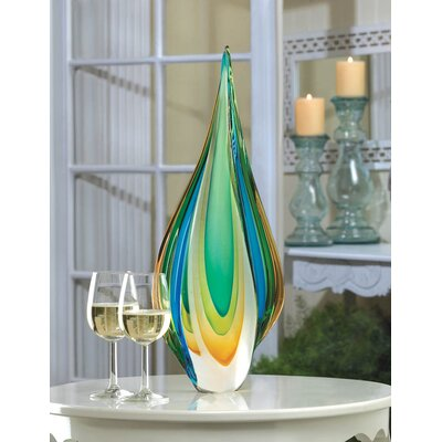 Brayden Studio Cool Flame Art Glass Statue