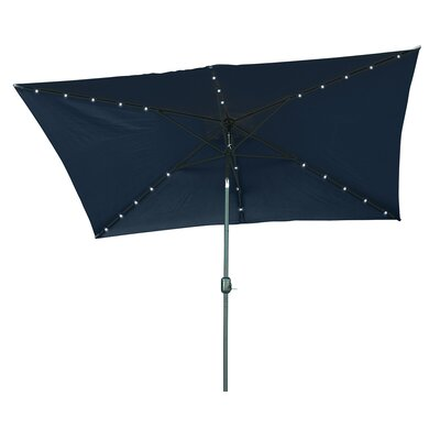 6.5 x 10 Destefano Rectangular Illuminated Umbrella Fabric: Blue