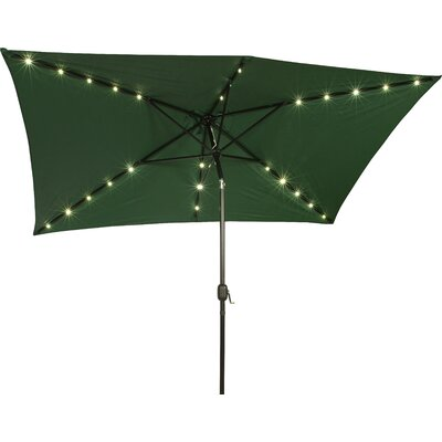 6.5 x 10 Destefano Rectangular Illuminated Umbrella Fabric: Green