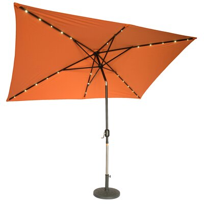 6.5' x 10' Destefano Rectangular Illuminated Umbrella Fabric: Orange