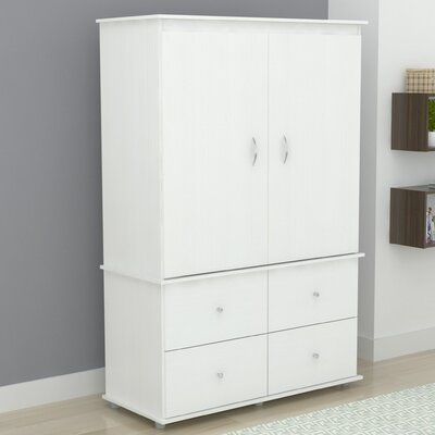 Burditt TV-Armoire Finish: Larcinia-White