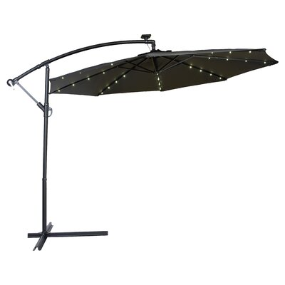 10 Gorman Illuminated Umbrella Fabric: Black
