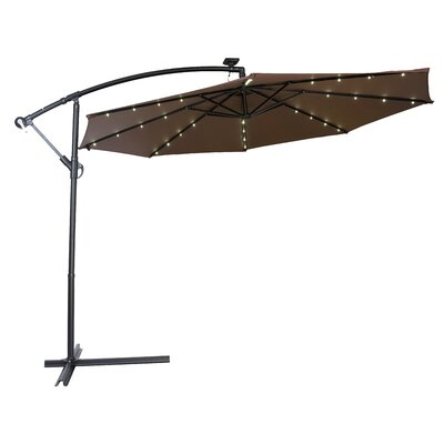 10 Gorman Illuminated Umbrella Fabric: Dark Brown