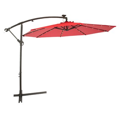 10' Gorman Illuminated Umbrella Fabric: Red