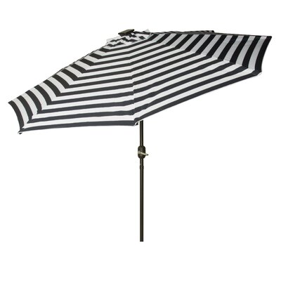 9' Gorman Illuminated Umbrella Fabric: Black