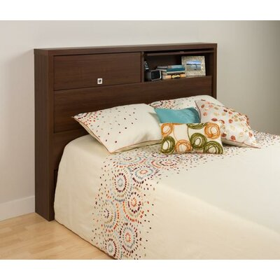 Oleanna Bookcase Headboard Finish: Medium Brown Walnut