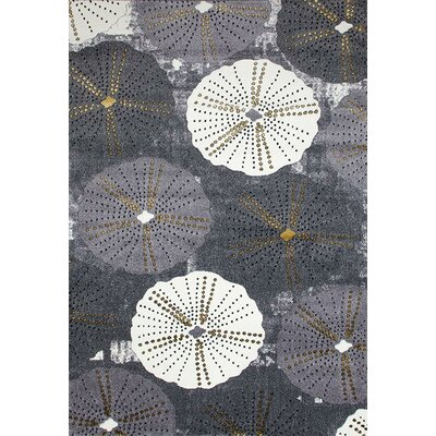 Dabbs Gray Indoor/Outdoor Area Rug Rug Size: 5 x 7