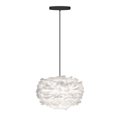 Balch 1 Light Globe Hardwired Pendant Cord/Cable Finish: White, Shade Color: White, Size: 15.7 H x 25.6 W x 25.6 D
