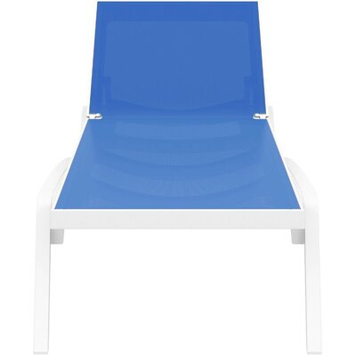 Douthit Chaise Lounge (Set of 2) Finish: White / Blue