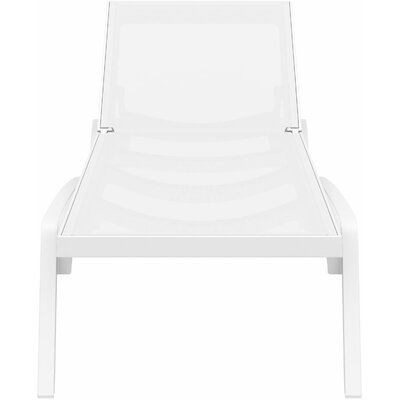 Douthit Chaise Lounge (Set of 2) Finish: White