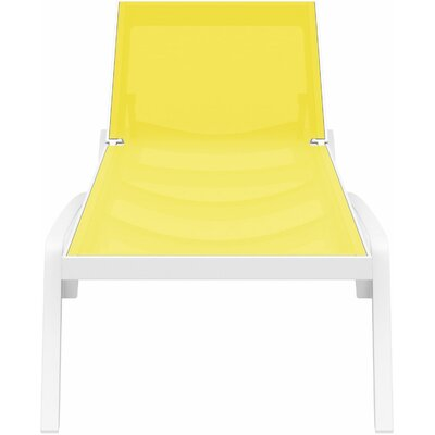 Douthit Chaise Lounge (Set of 2) Finish: White / Yellow