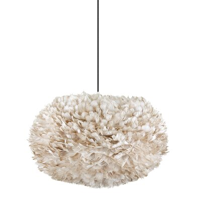 Bradway 1-Light Globe Plug-In Pendant Cord / Cable Finish: Black, Size: 17.7 H x 29.5 W x 29.5 D, Shade Color: Light Brown