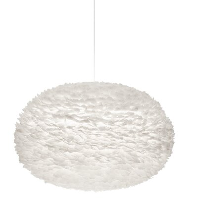 Bradway 1-Light Globe Plug-In Pendant Shade Color: White, Cord / Cable Finish: White, Size: 27.6 H x 43.3 W x 43.3 D
