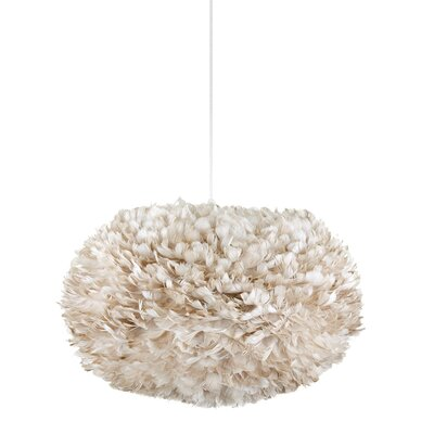 Bradway 1-Light Globe Plug-In Pendant Cord / Cable Finish: White, Shade Color: Light Brown, Size: 17.7 H x 29.5 W x 29.5 D