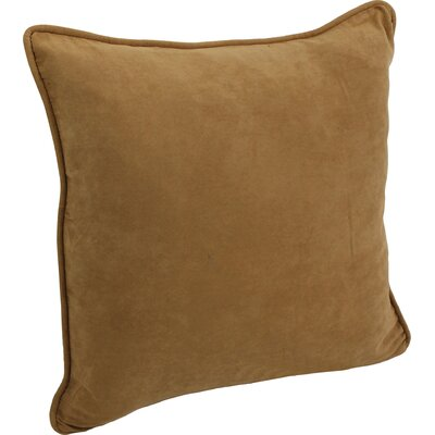 Boulware Microsuede Floor Pillow Color: Camel