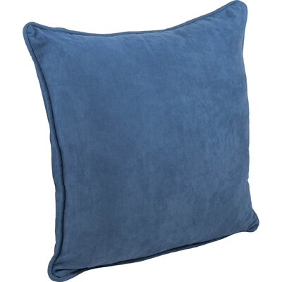 Boulware Microsuede Floor Pillow Color: Indigo