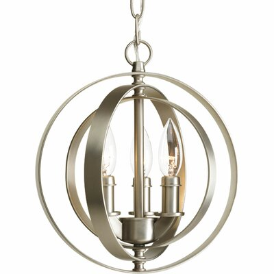 Castello 3-Light Pendant Finish: Burnished Silver