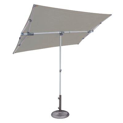 Federico 5 x 7 Rectangular Market Umbrella Fabric: Stone