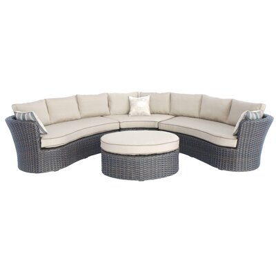 Brentwood 4 Piece Sectional Deep Seating Group with Cushions
