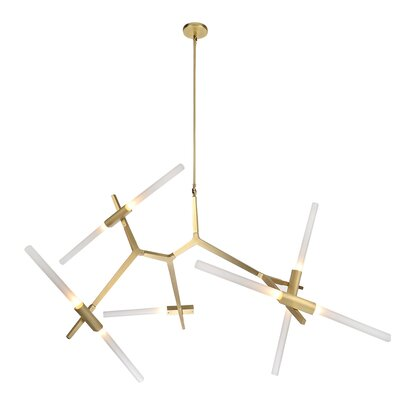 Cybill 10-Light Sputnik Chandelier Finish: Brushed Brass