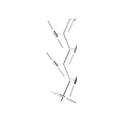 Cybill 20-Light LED Cascade Pendant Finish: Matte Chrome
