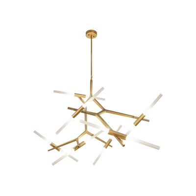 Cybill 14-Light Geometric Pendant Finish: Brushed Brass