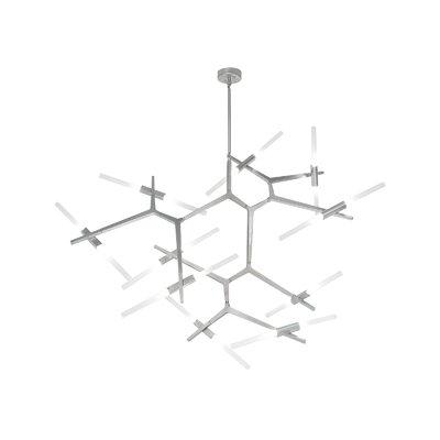 Cybill 20-Light Geometric Pendant Finish: Matte Chrome