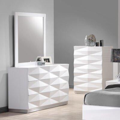 Brayden Studio Baldree 6 Drawer Dresser with Mirror
