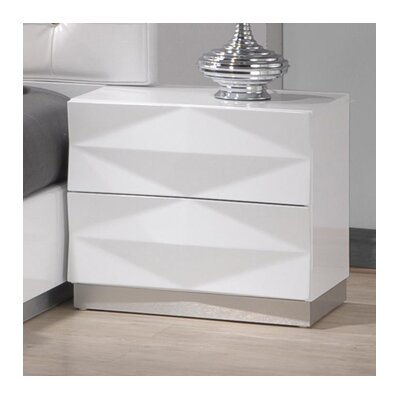 Baldree 2 Drawer Nightstand