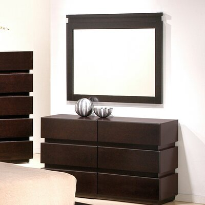 Brayden Studio Godin 6 Drawer Dresser with Mirror