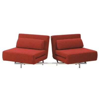 Demelo Convertible Sofa Upholstery: Red