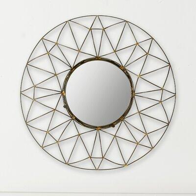 Brayden Studio Maxim Round Natural Wall Mirror