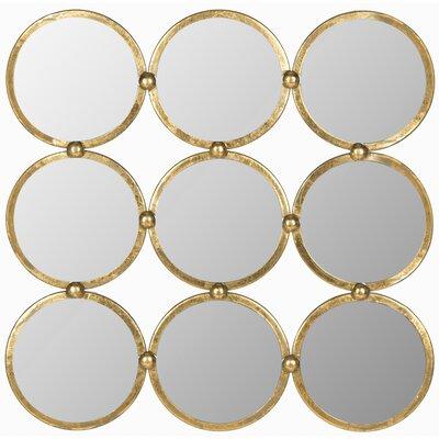 Brayden Studio Maxim Circles In The Square Mirror