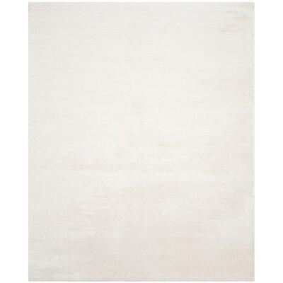 Maxim White Soild Rug Rug Size: 5 x 8