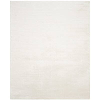 Maxim White Soild Rug Rug Size: Rectangle 10 x 14