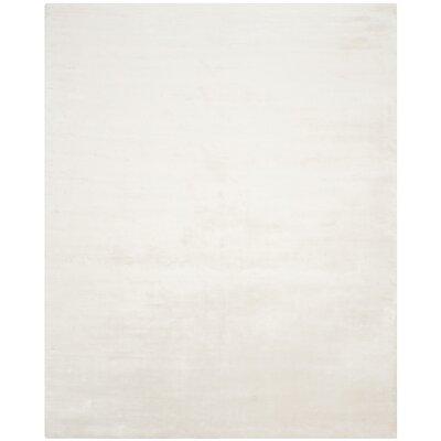 Maxim White Soild Rug Rug Size: 8 x 10