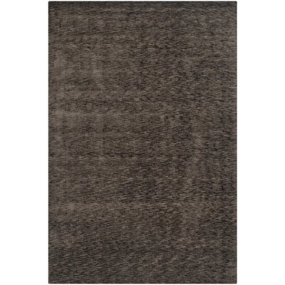 Maxim Charcoal Soild Rug Rug Size: Rectangle 8 x 10