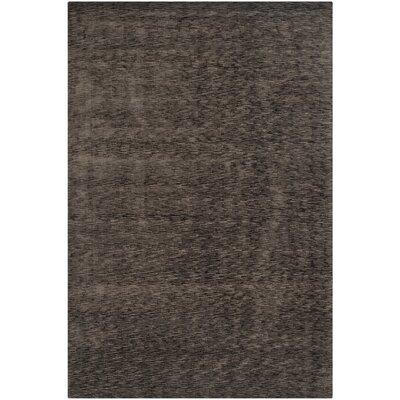 Maxim Charcoal Soild Rug Rug Size: Rectangle 9 x 12