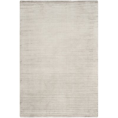 Maxim Graphite Hand-Woven Gray Area Rug Rug Size: Rectangle 6 x 9