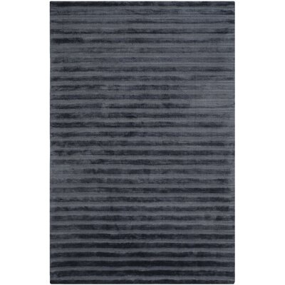 Maxim Navy/Blue Striped Rug Rug Size: 9 x 12
