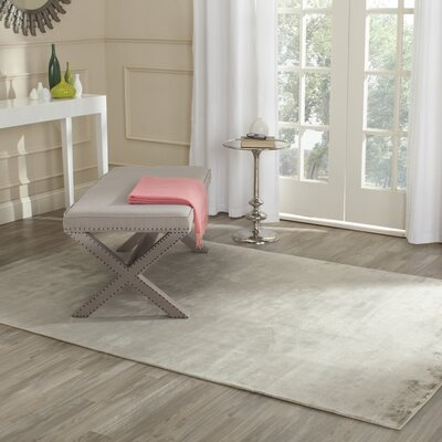 Maxim Silver Soild Rug Rug Size: Rectangle 9 x 12