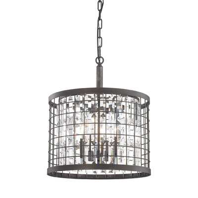 Chilson 4-Light Drum Pendant Size: 18 H x 15 W x 15 D