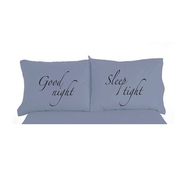 Caulder Goodnight, Sleep tight Inspirational Novelty Print Pillowcase Pair