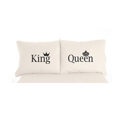 Caulder King and Queen Inspirational Novelty Print Pillowcase Pair