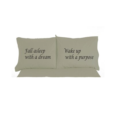 Caulder Fall Asleep with a Dream Inspirational Novelty Print Pillowcase Pair