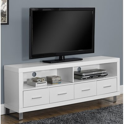 Maner TV Stand Finish: White