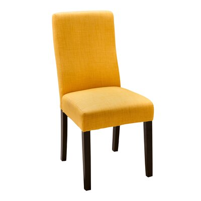 Caverly Parsons Dining Chair Upholstery: Apricot