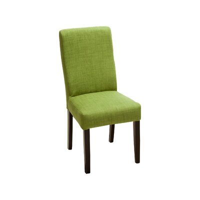 Caverly Parsons Dining Chair Upholstery: Green