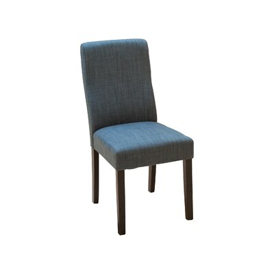 Caverly Parsons Dining Chair Upholstery: Indigo