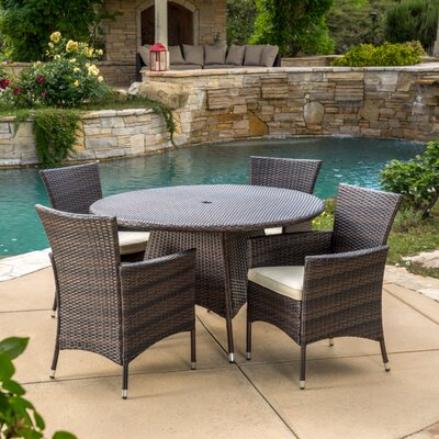 Byrom 5 Piece Dining Set with Cushions